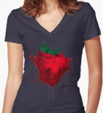 Strawberry from Across the universe Women's Fitted V-Neck T-Shirt
