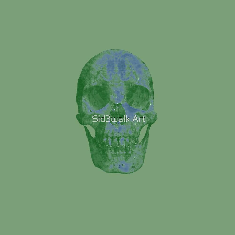 Glowing Skull Weird Random Creepy by Sid3walk Art