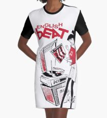 THE ENGLISH BEAT Graphic T-Shirt Dress