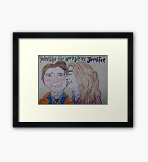 The Marty to my Jennifer Framed Print
