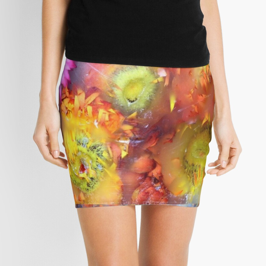 Marble Flower Products Mini Skirt