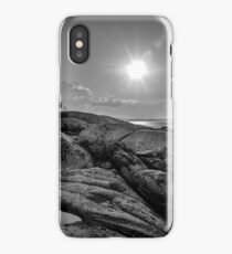 B&W of Iconic Lighthouse at Peggys Cove, Nova Scotia iPhone Case/Skin