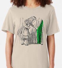 Camiseta ajustada Follow the white rabbit