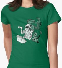 HS Thompson writing Women's Fitted T-Shirt