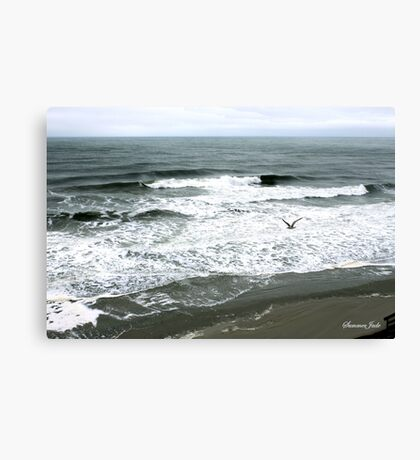 Incoming Breakers ~ Stormy High Tide Canvas Print