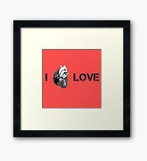 Love Cool Cute Street Art Heart Framed Print