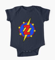My Cute Little Super Hero - Letter Z One Piece - Short Sleeve