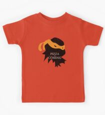 Pizza is Coming Kids Tee