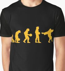 The Big Lebowski evolution yellow Graphic T-Shirt