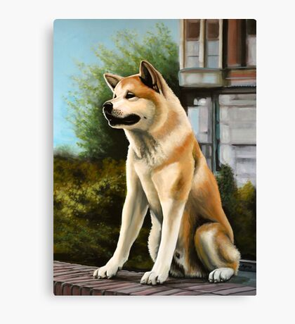 Hachi Painting Canvas Print
