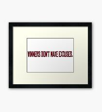 Winners Suits TV Series Inspirational Quote Harvey Specter Red Framed Print