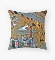 Loops and Loops, Hanging Sculpture  Throw Pillow