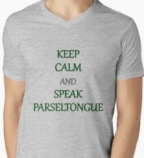 Keep Calm and Speak Parseltongue Mens V-Neck T-Shirt