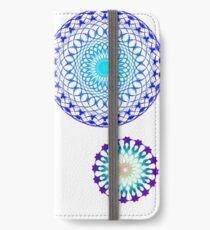 Mandala  ice iPhone Wallet