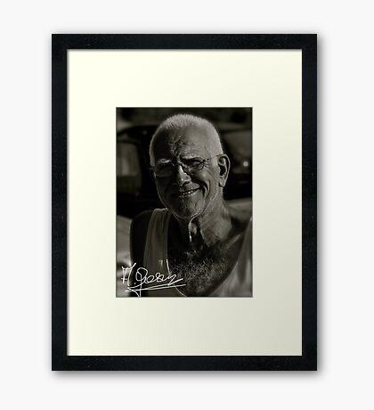 My Friend The Wind - Greek Zorba  . © Andrzej Goszcz. Canon 5D Mark II. Framed Print