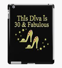 30TH BIRTHDAY DIVA iPad Case/Skin