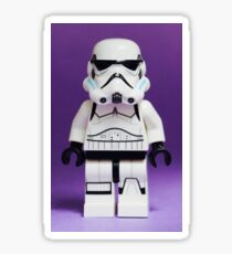 Purple Lego Storm Trooper Sticker