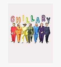 Hillary Clinton Pantsuit white Photographic Print