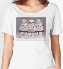 Grey Lego Storm Trooper line up Women's Relaxed Fit T-Shirt