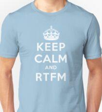 Keep Calm Geeks: RTFM Unisex T-Shirt