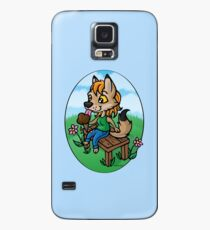Summertime Treat - Coyote with Ice Cream Case/Skin for Samsung Galaxy
