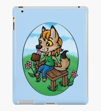 Summertime Treat - Coyote with Ice Cream iPad Case/Skin