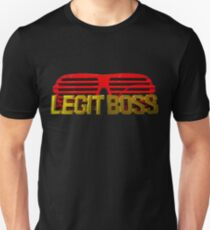 Legit Boss Rings and Red Shutter Shades Unisex T-Shirt
