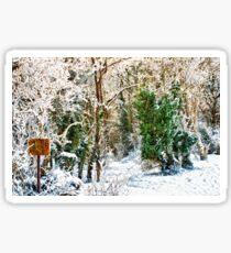 Woodland Snow Sticker