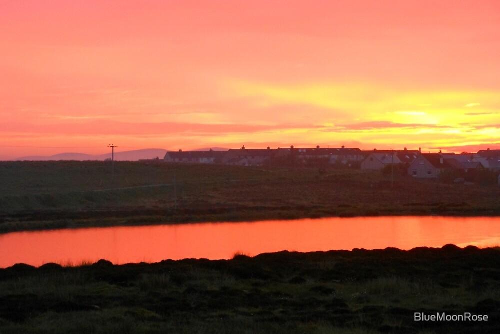 Sunset Outside Stornoway by BlueMoonRose
