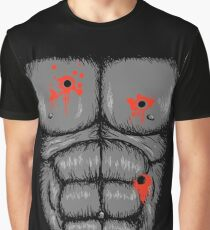 Harambe Halloween Costume - Shot Gorilla Chest Graphic T-Shirt