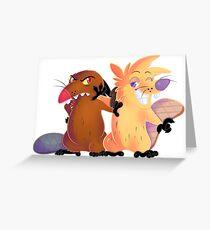 Angry Beavers Greeting Card
