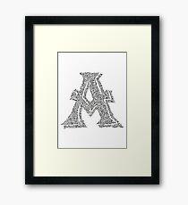 Letter A Art Framed Print