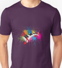 Piano Wavy Keyboard Paint Splatter Abstract Illustration T-Shirt