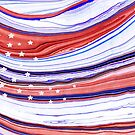 Modern American Flag - Red White And Blue - Sharon Cummings by Sharon Cummings