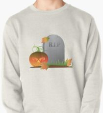 Halloween Pumpkin by Tombstone Illustration Pullover