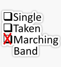 Marching Obsession Sticker