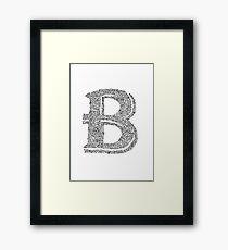 Stylized Letter B Art Framed Print