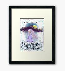 Tarot Card The Moon Goddess Framed Print