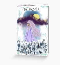 Tarot Card The Moon Goddess Greeting Card