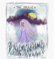 Tarot Card The Moon Goddess Poster