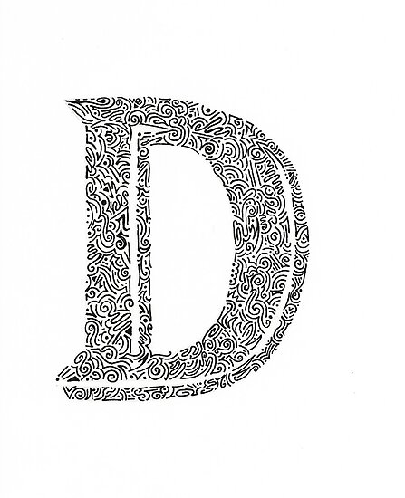 Stylized Letter D Art Poster By Olivialee14