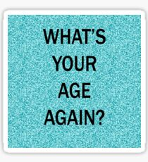 Blink 182 sticker stickers redbubble whats your age again birthday card sticker bookmarktalkfo Image collections