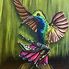 Hummingbird Painting  by careball