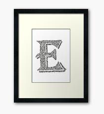 Stylized Letter E Art Framed Print