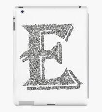 Stylized Letter E Art iPad Case/Skin