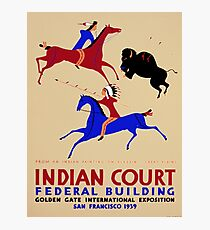 Vintage poster - Indian Court Federal Building Photographic Print