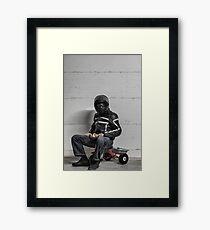 Ironic Biker Framed Print