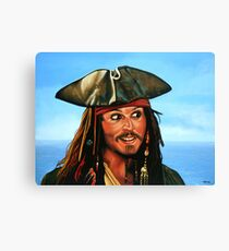 Captain Jack Sparrow Painting Canvas Print