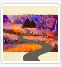 Abstract,water color,hand painted,landscape,mixed media Sticker