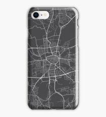Dortmund Map, Germany - Gray iPhone Case/Skin